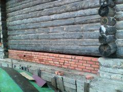 закладка фундамента под баней д. Конохово
