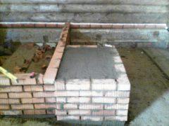 фундамент под котел в бане д. Конохово