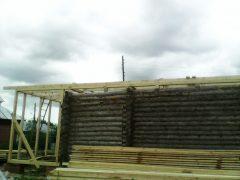 монтаж «ноля» двухскатной крыши