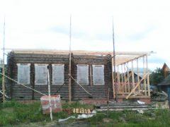 нижняя обвязка двухскатной крыши