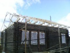 монтаж стропильной системы двухскатной крыши