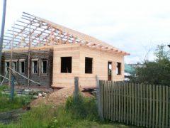 стропильная система и обрешетка двухскатной крыши