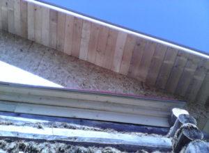 подшив карниза деревянной рейкой г. Кохма