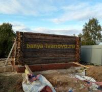 сруб бани из бревна в Иваново