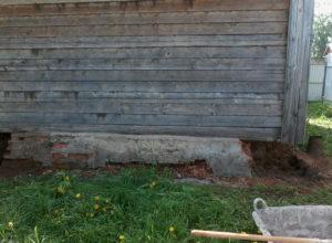 замена старого фундамента под частным домом