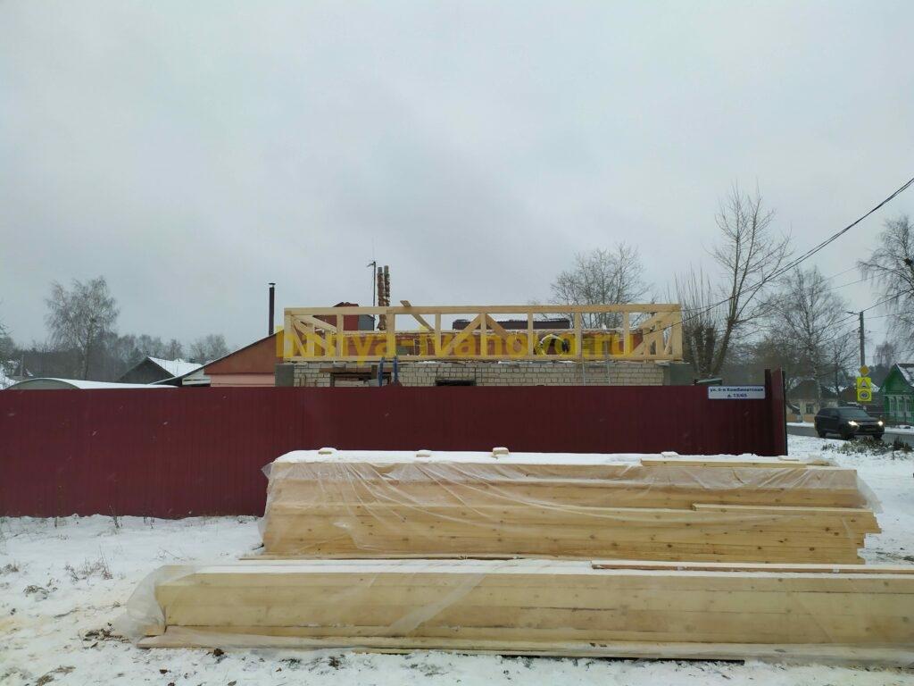 IMG 20201121 150258 scaled - Мансардная крыша м. Сластиха - покрытие профлистом, отделка фронтонов плитами OSB