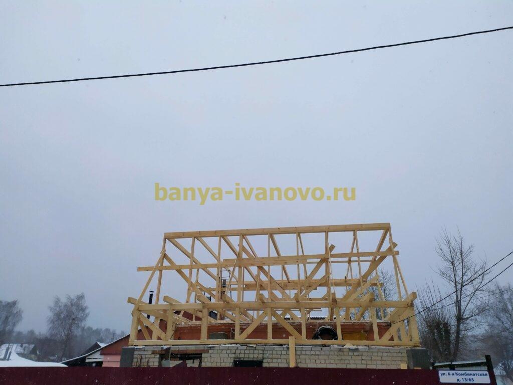 IMG 20201123 111500 scaled - Мансардная крыша м. Сластиха - покрытие профлистом, отделка фронтонов плитами OSB